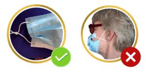 Recommandations sur le port du masque de procédure